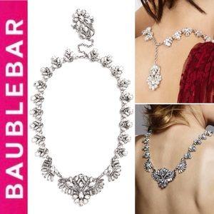 🆕 Lotus Bib Necklace CLEAR/SILVER